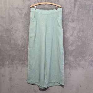 Flax green linen lounge pants